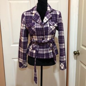 Purple Multi Blazer w/ pockets